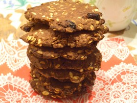 おから入☆ココア・レーズン・押麦クッキー