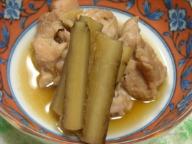 新ごぼうと鶏肉の煮物