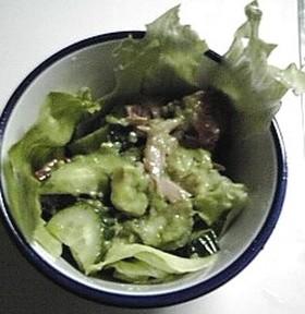 まろやか♪きゅうりとアボカドのツナサラダ
