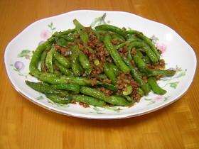 干扁四季豆(いんげんとひき肉の炒め)