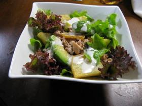 アボガドとポテトとツナのサラダ