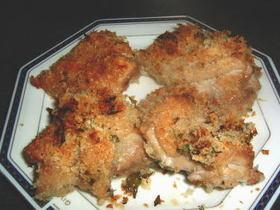 オーブンでカリッと・鶏肉香草パン粉焼き