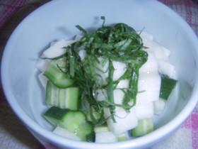 長芋と胡瓜のサラダ