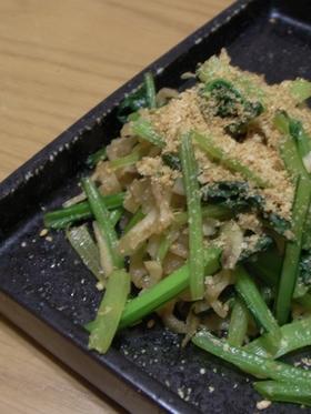 季節の青菜と切干大根の炒め煮