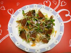 オリーブオイルで!鰹のたたきサラダ