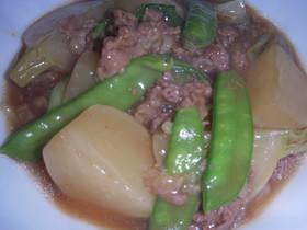 蕪と牛肉の炒め煮