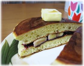 ブルーベリージャムでホットケーキ♪♪