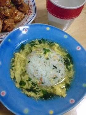 卵スープのあんかけご飯