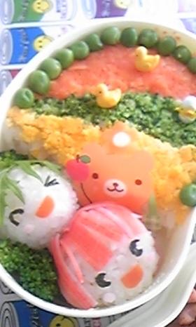 カラフルキャラ弁(ご飯の方)