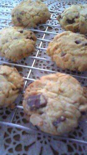 贅沢♡チョコアーモンドココナッツクッキー