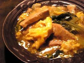 小松菜と豚肉のとろーりあんかけ