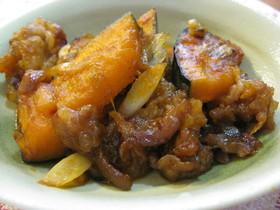 かぼちゃと豚肉のピリッカラ~炒め
