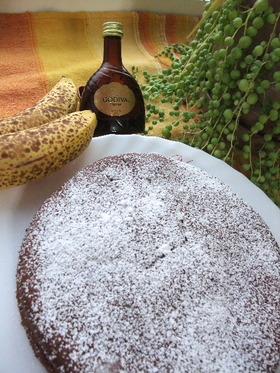 パティシエ直伝♪レアバナナチョコケーキ