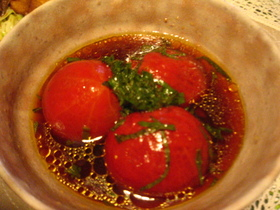 トマト丸ごと☆中華風マリネ