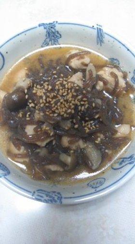糸こんにゃくとササミのピリ辛味噌煮☆