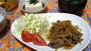 牛肉とパパイヤの甘醤油炒めの写真
