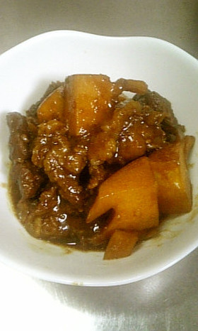 牛スジと筍の味噌煮込