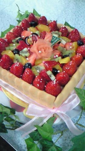 【母の日に「ありがとう」 豪華なケーキ】