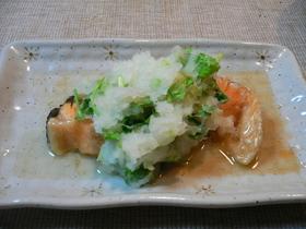 簡単ダイエットメニュー☆鮭の三つ葉おろし