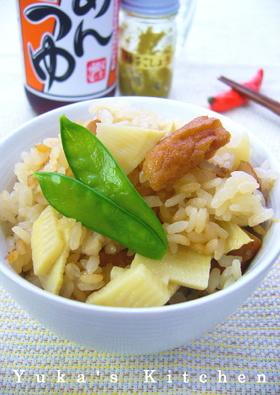筍とさつま揚げの柚子胡椒炊き込みご飯