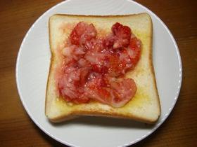 簡単で美味しい苺トースト