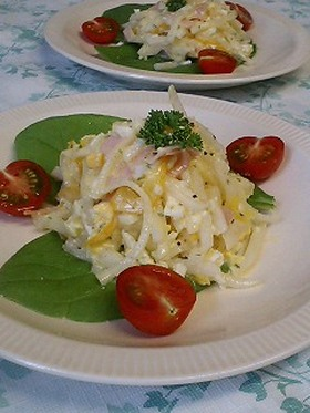 ♡タルタルソースで食べる大根サラダ♡