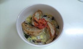 ふんわりたまごスープ飯食べchina