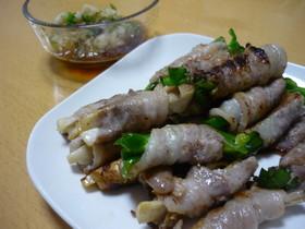 簡単*豚肉の野菜巻き ピーマン きのこ編