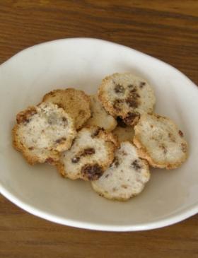 乾煎り不要:レーズンおからクッキー