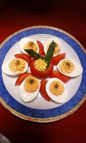 ゆで卵のオードブル