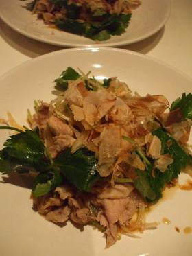 日本酒の友☆豚肉とタマネギの和えもの