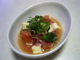 完熟トマトの美味しいサラダ♡