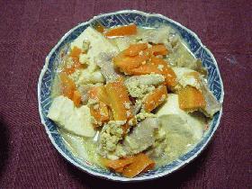 豆腐と豚肉の卵とじ煮