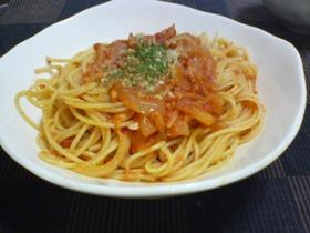 お家にあるもので★ツナトマトスパゲティ