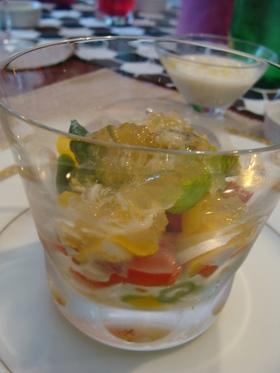 旬の野菜とホタテの和風ジュレ添え