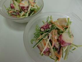 しゃきしゃき野菜とたこの味噌マヨサラダ