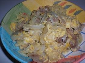 簡単!玉子と玉ねぎと豚肉の炒め物