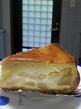 りんごの入ったチーズケーキ