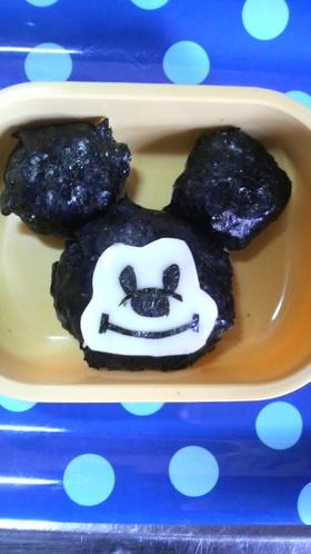 キャラ弁☆ミッキーマウスおにぎり