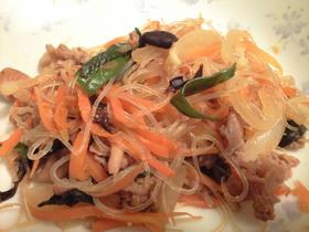 野菜と春雨の炒めもの(チャプチェ風)