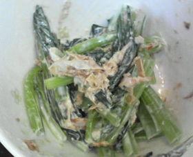小松菜のわさびマヨおかか和え