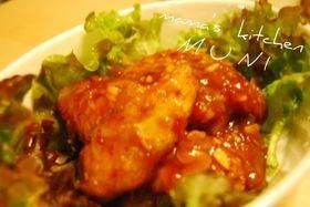 ヘルシー胸肉とスィートチリソースで鶏チリ