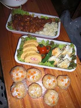 ピクニック弁当② (チーズハンバーグ編)