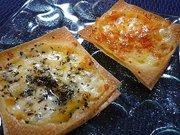 シュウマイの皮のチーズトーストの写真