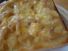 朝食に*アップルチーズトースト