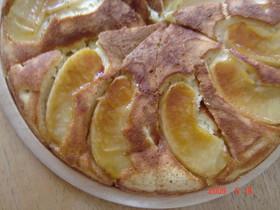 フライパンでシナモンアップルホットケーキ