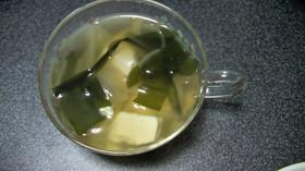 中華風!?豆腐とわかめのスープ☆彡