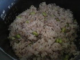 枝豆と豚肉の炊き込みご飯