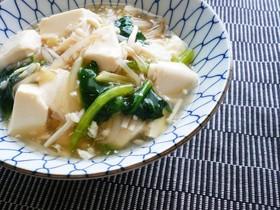 塩麹さんde豆腐と野菜のあんかけ丼♪