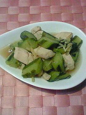 きゅうり(加賀太きゅうり)と鶏肉の煮物